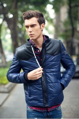 伊瓦洛保暖卸袖棉衣夹克