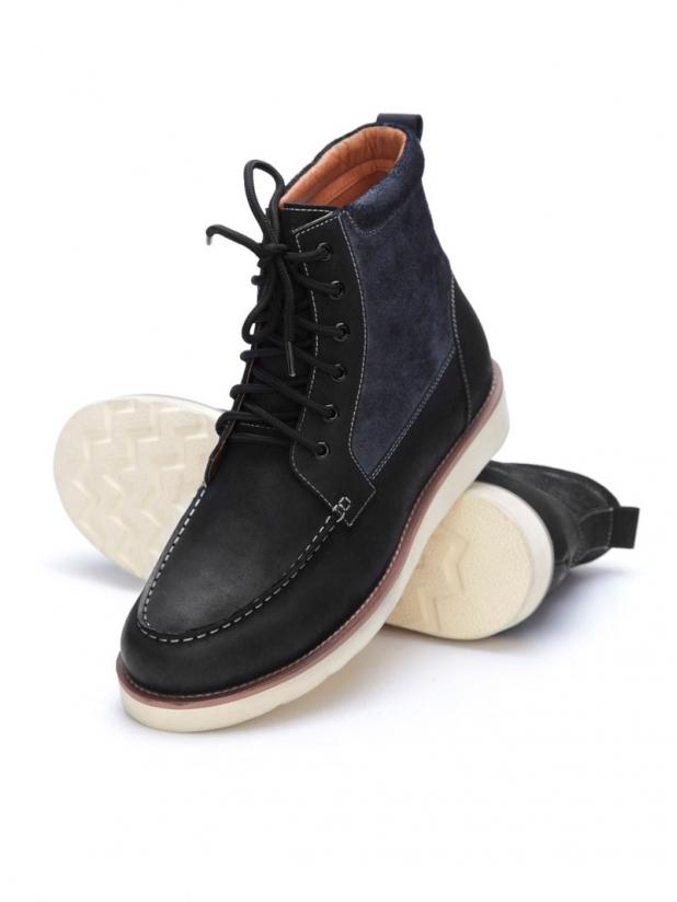 经典皮革工装靴