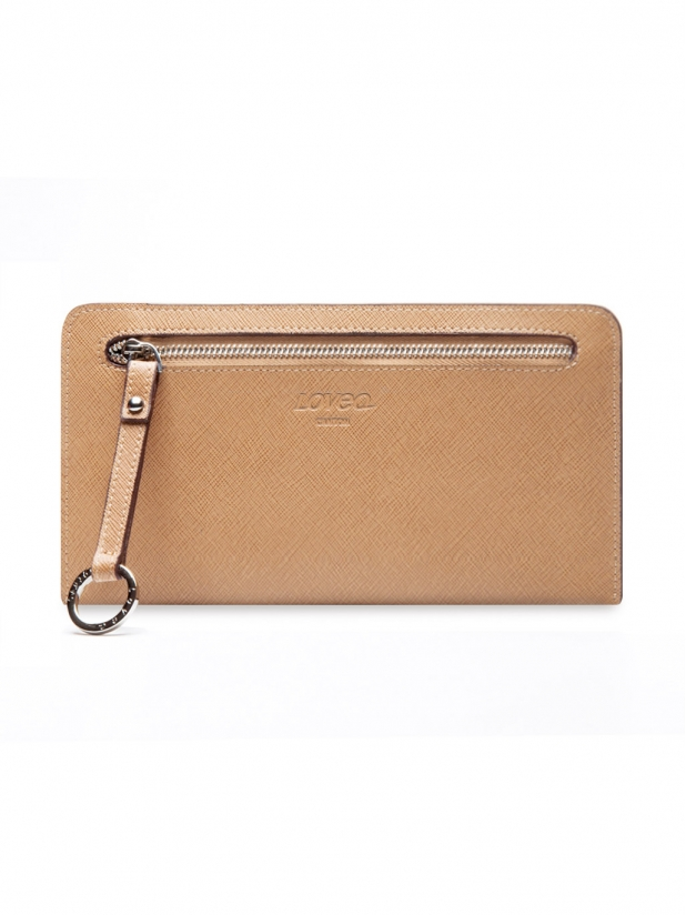 十字纹Wallet Plus(杏色)