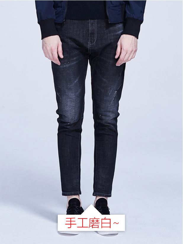 【105】磨白牛仔裤