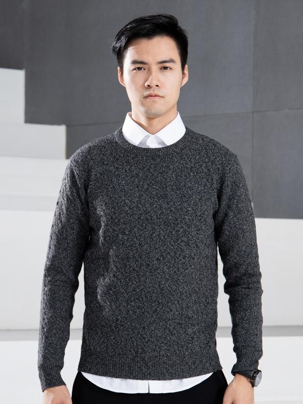菱度 圆领毛衫