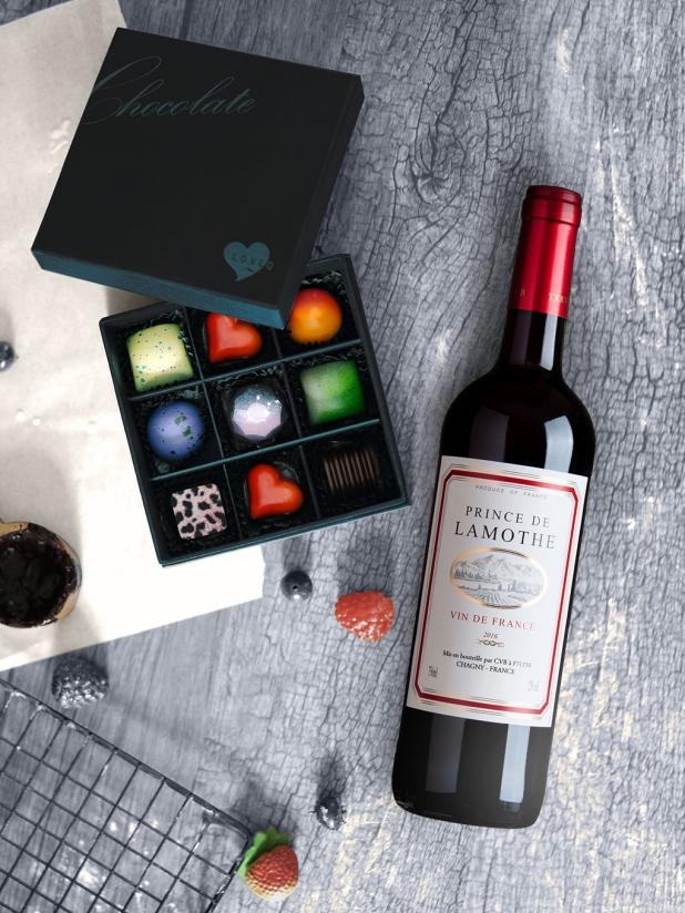 Magic Love 手工巧克力+法国王子干红葡萄酒