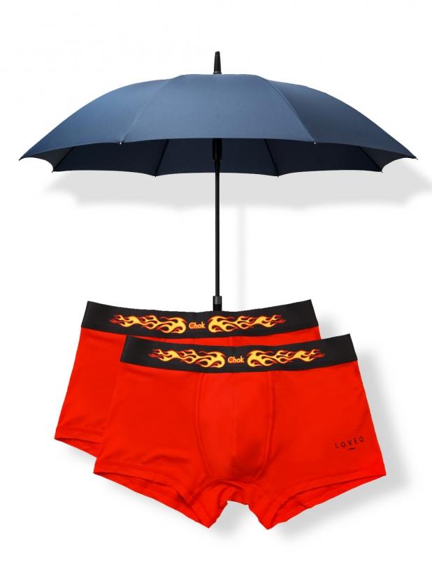 一些事一些情简约长柄雨伞+富五代两条装平底裤 118元