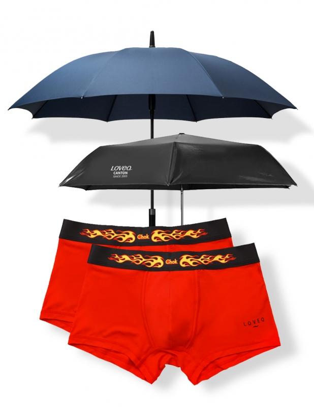 富五代两条装平底裤+一些事一些情简约长柄雨伞+碳纤维超轻晴雨伞 258元