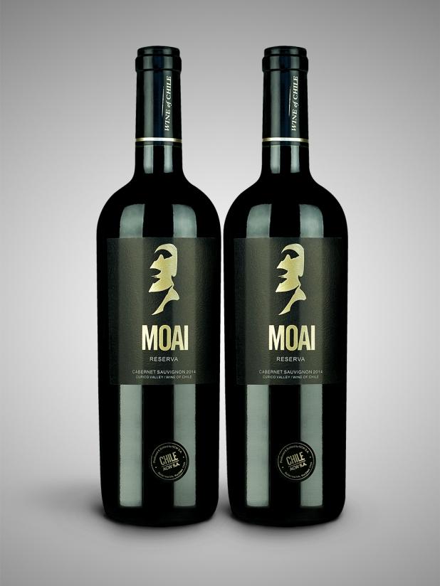智利巨人莫亚(金)干红葡萄酒×2