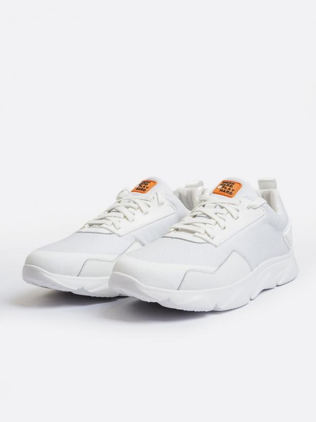 轻简透气系带休闲鞋 白色