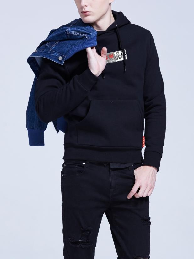 恭喜发财卫衣(年年有鱼)黑色