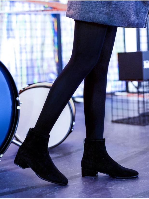 弹力绒布女款瘦瘦靴