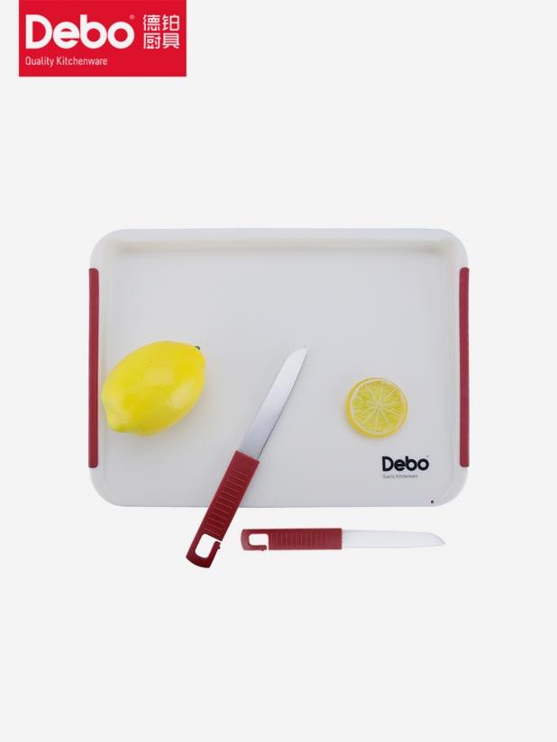 Debo便携多功能双面滤水切菜板