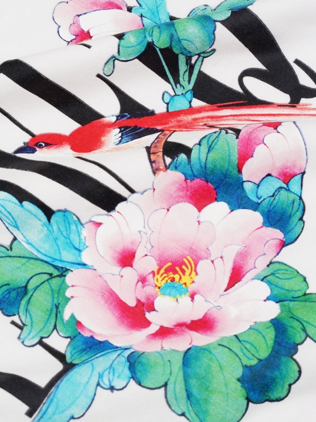 鸟语花香 白色