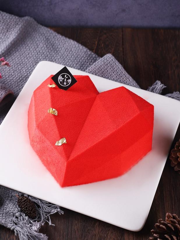 元呈坊钻石心形椰子风情蛋糕