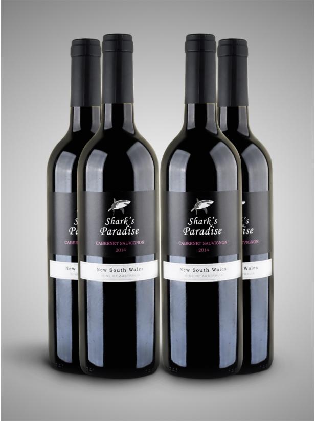 黑鲨鱼 干红葡萄酒x4