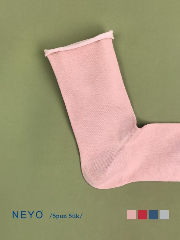 NEYO内优堂 绢丝 纯色薄堆堆无痕松口长筒女袜