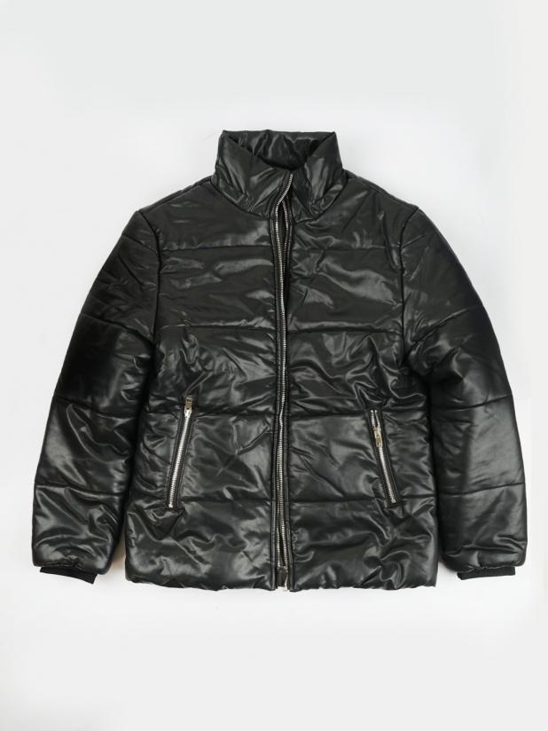 【打板/模特试穿】纯黑厚皮夹克