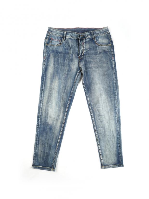 【打板/模特试穿】薄款蓝色牛仔裤