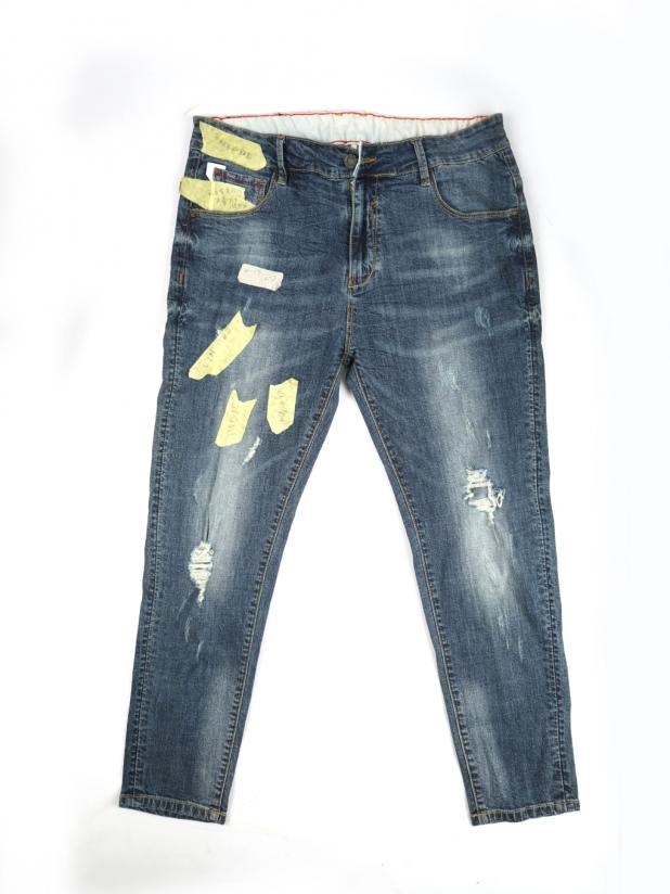 【打板/模特试穿】薄款蓝色破洞牛仔裤