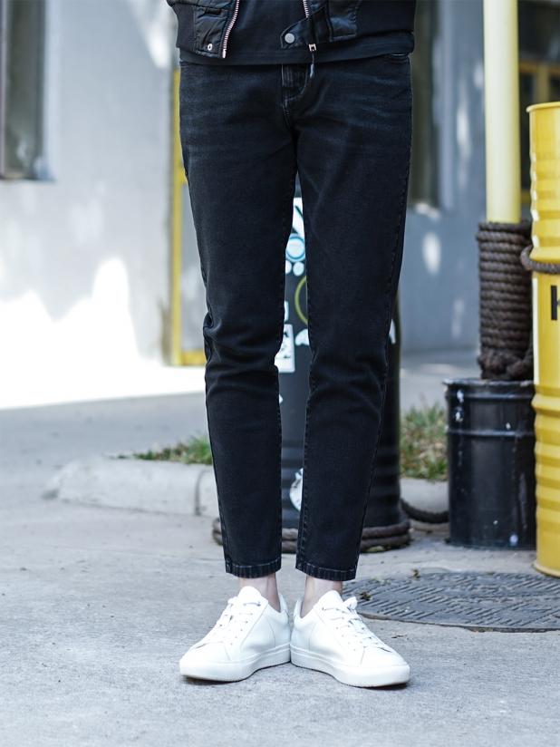 发财狮子牛仔裤【黑色】