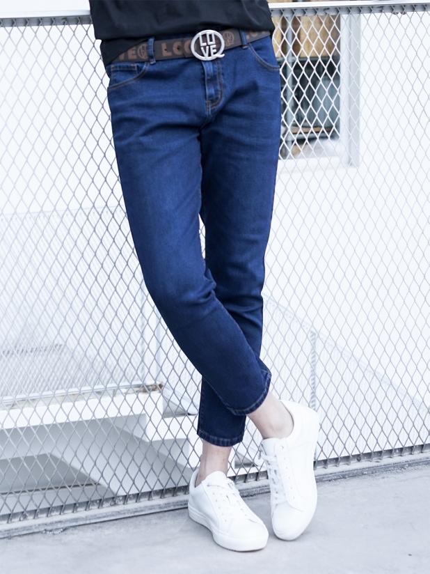 发财狮子牛仔裤【蓝色】