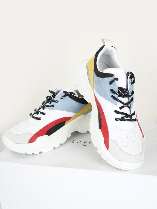 【打板/模特试穿】Saunter 彩色厚底老爹鞋