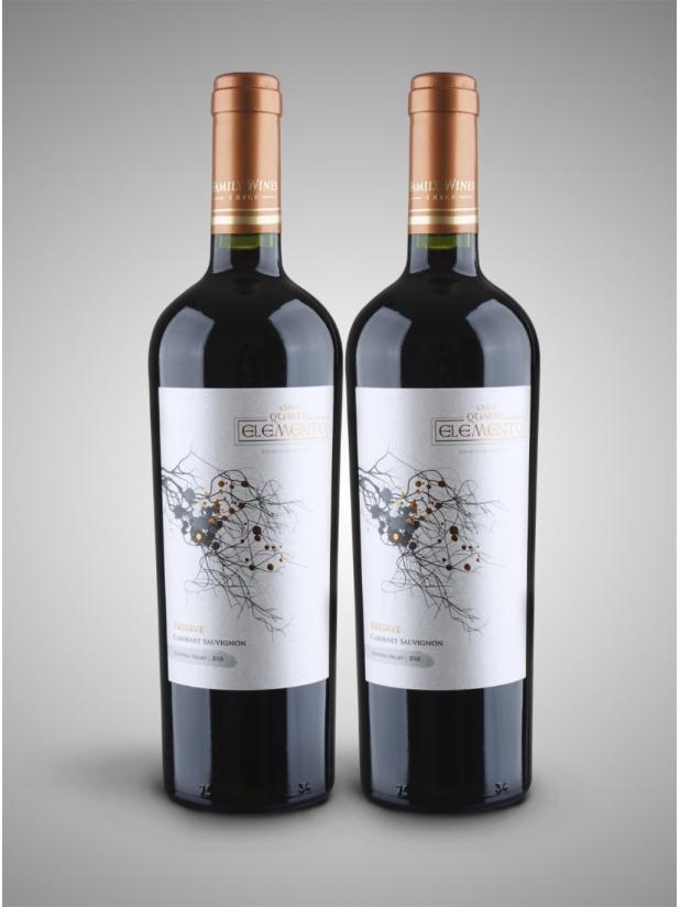 智利元素珍藏版红酒x2