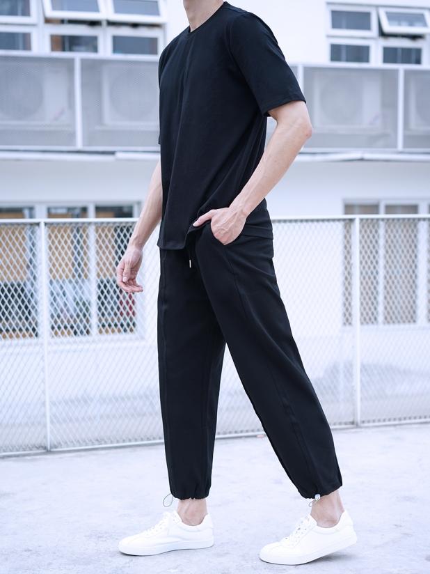 Free 运动休闲长裤 黑色