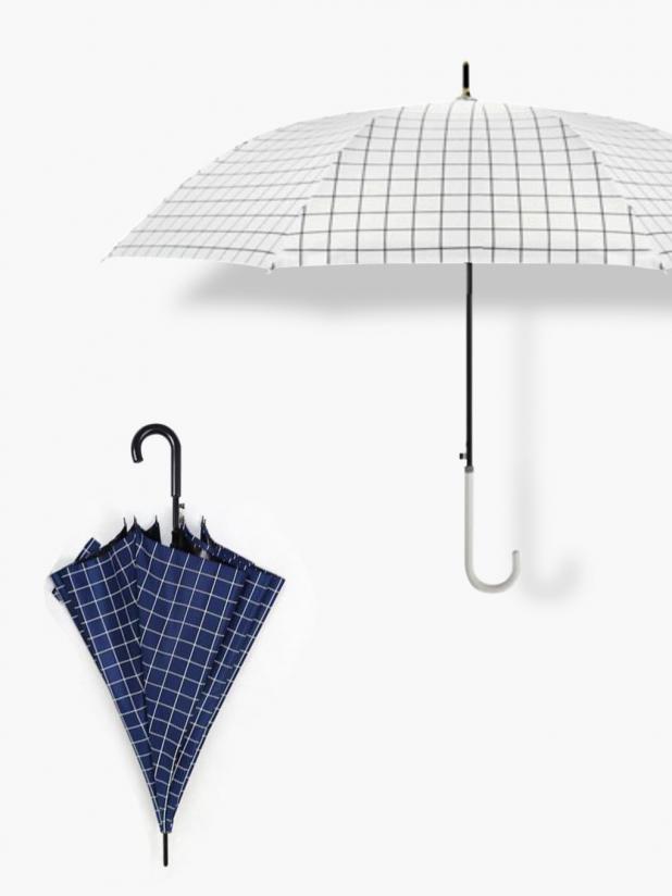 一些事一些情 直杆小洋伞+格子长柄雨伞