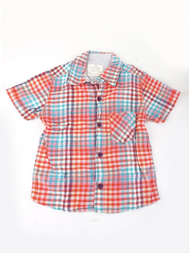 Zara Kids 格仔衬衫短袖