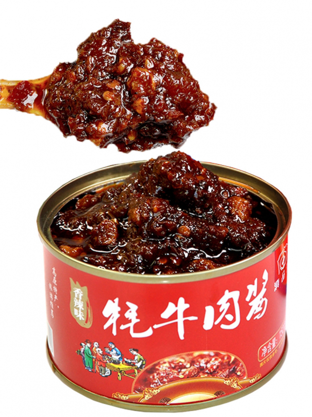 滇品王牦牛肉酱6罐(香辣味x2+鸡枞味x2+松茸味x2)