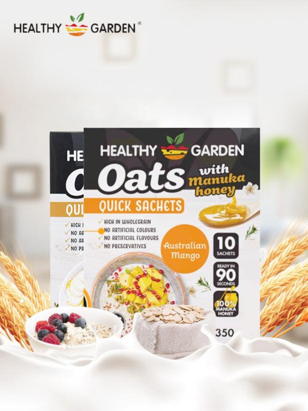 Healthy Garden 麦卢卡蜂蜜麦片2盒(芒果口味+混合口味)