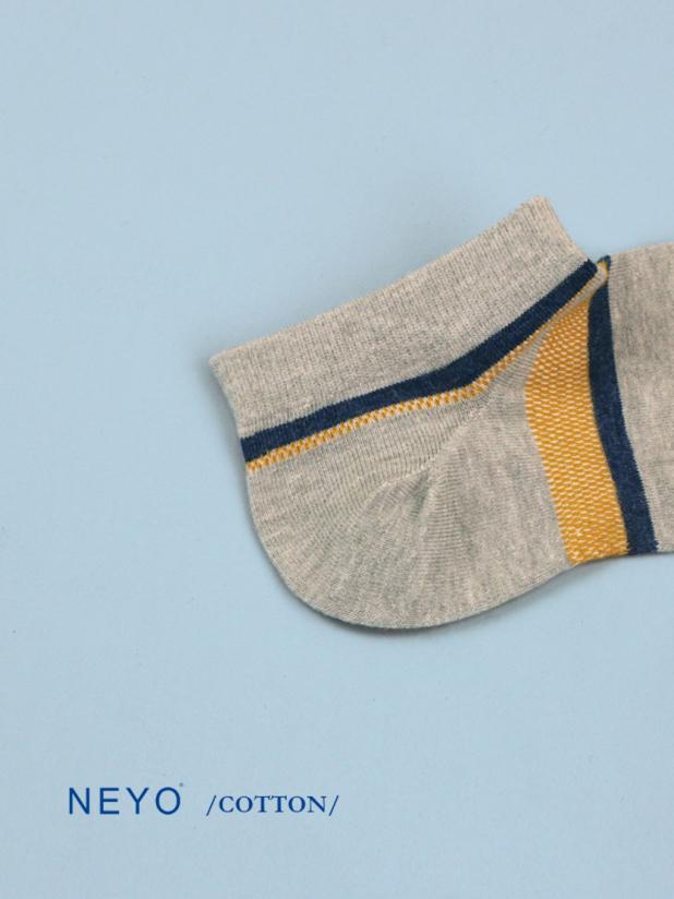 NEYO内优堂 棉 工装网面透气条纹短筒男袜
