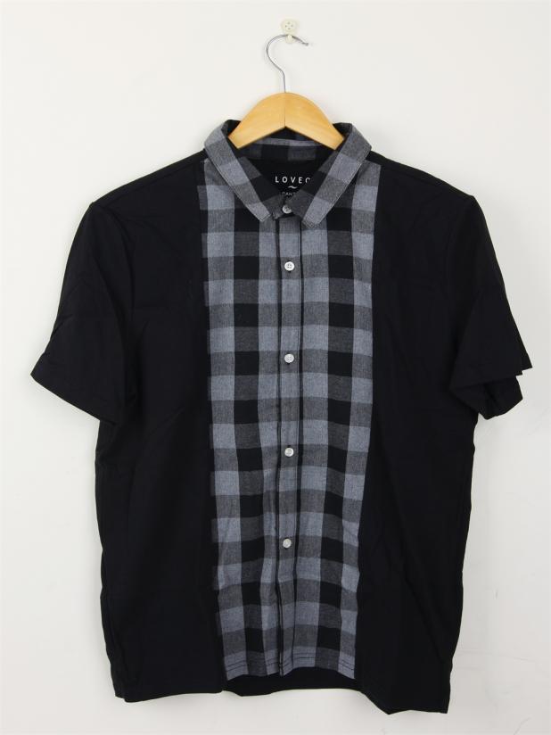 【模特试穿】格仔衫T恤 XL