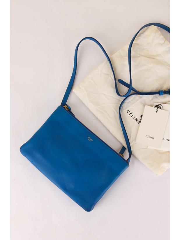 8新 Celine Trio Bag (蓝色)